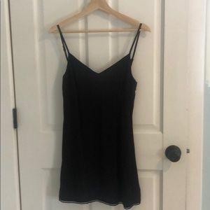 Aritzia black crepe dress
